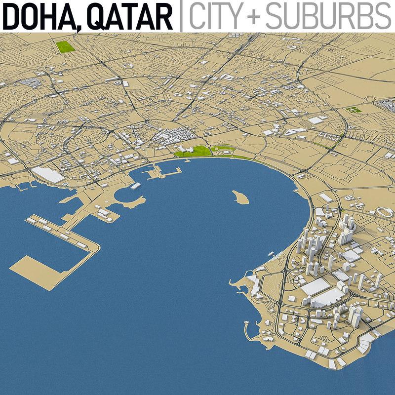3D doha qatar model