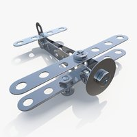airplane metal kit 3D model