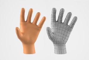 realistic human hand 3D model