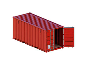 3D 20ft iso shipping container model