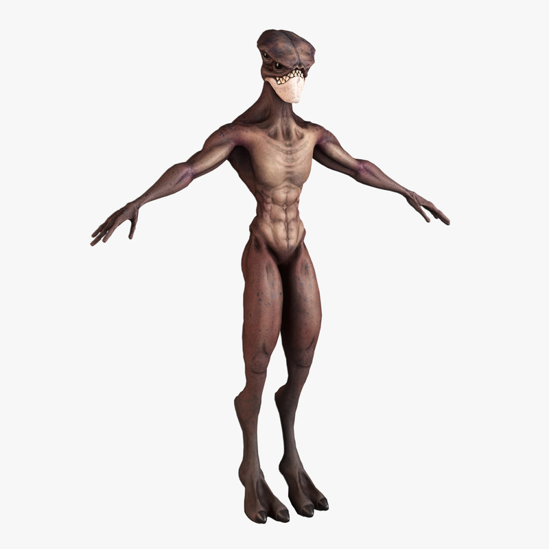 alien rigged 3D