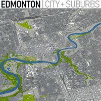 3D edmonton city canada