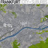 3D frankfurt germany area