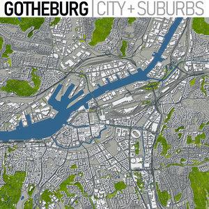 3D model gotheburg area urban