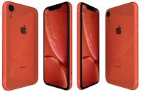 3D apple iphone xr red