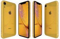 apple iphone xr yellow 3D