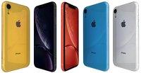 3D apple iphone xr colors model