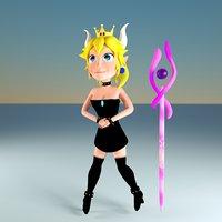 3D model bowsette