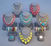 bracelet girls necklace 3D