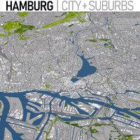 3D hamburg germany urban