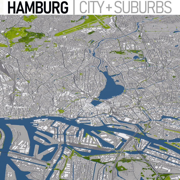 3D hamburg germany urban