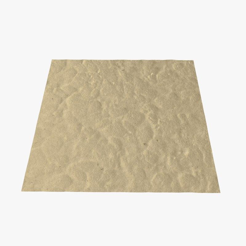 3D desert sand dune model