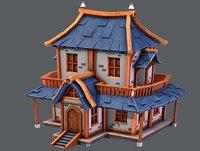 house cartoon v05 3D model