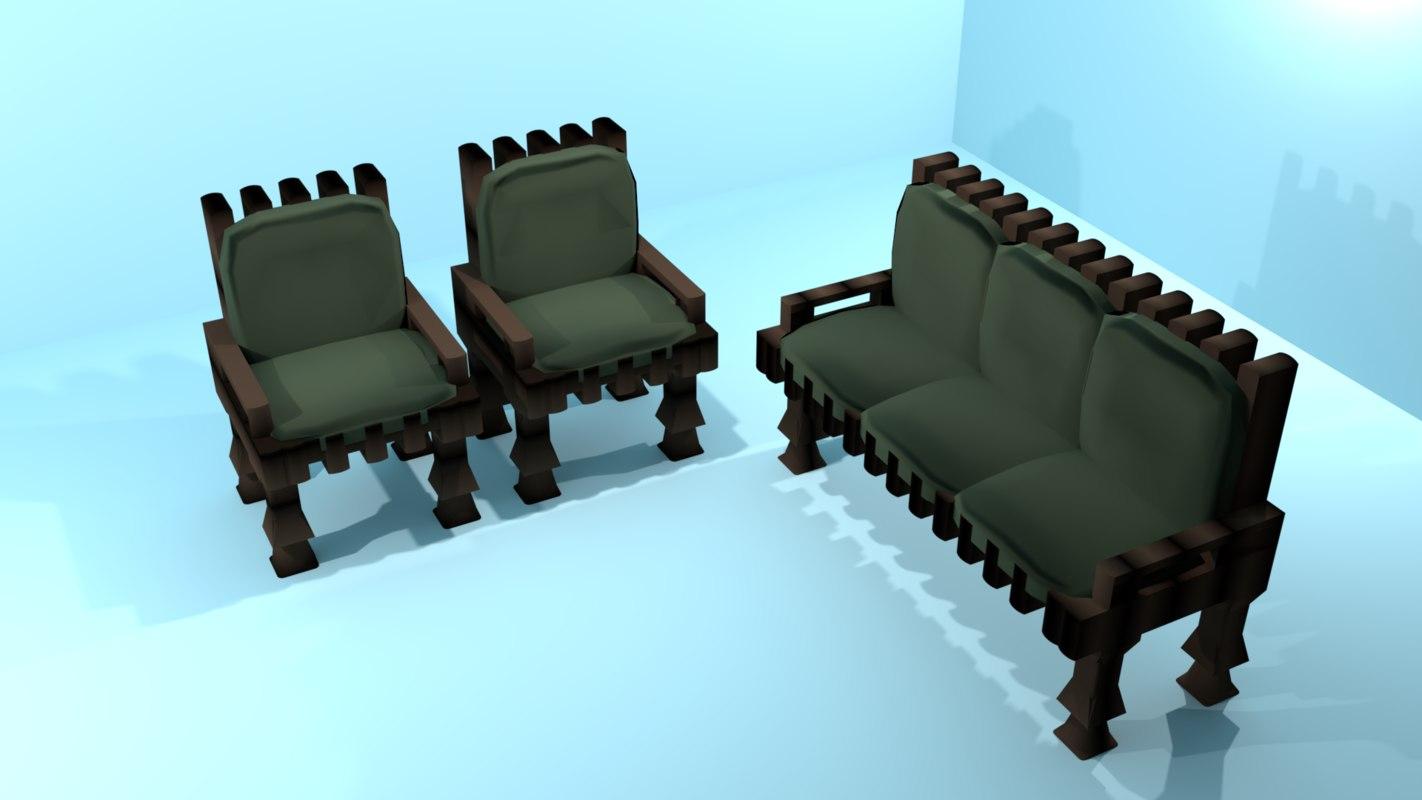 simple sofa set model
