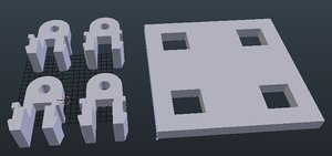 fixing attaching 3D model