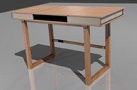 modern wooden desk 3D