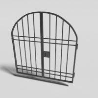 wrought iron gate - 3D model