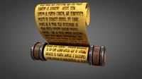 paper scroll 3D model