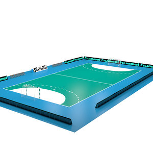 3D hand ball court model