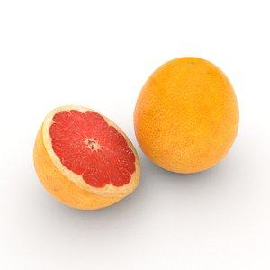 pomelo fruit 3D