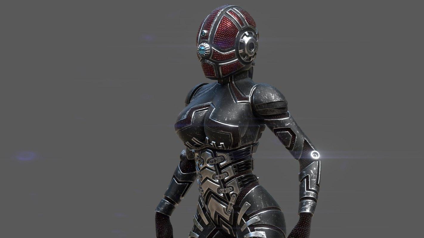 3D armor girl