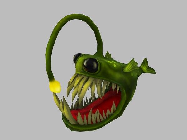 3D fish angler anglerfish