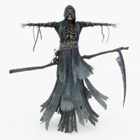 Grim Reaper with Scythe (Rigged)