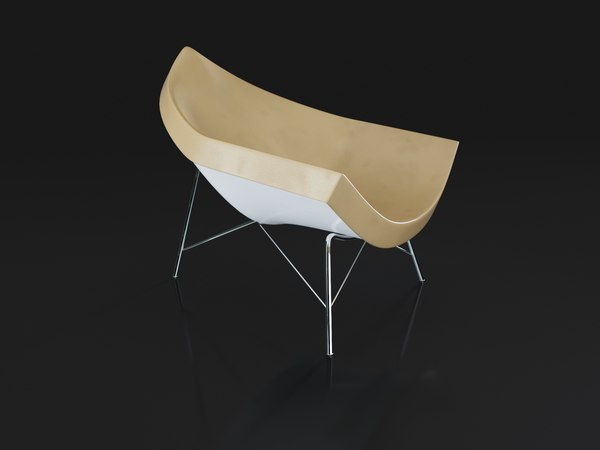3D coconut chair model
