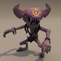 3D minion creature demon