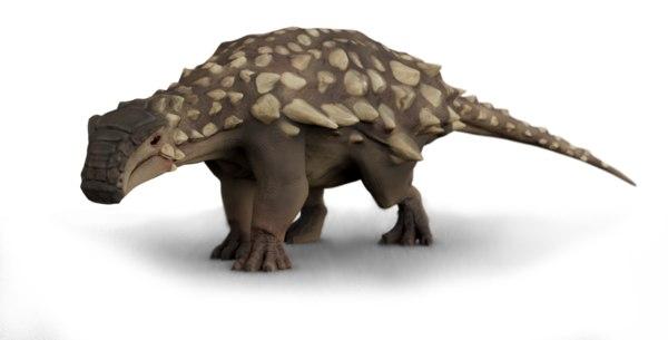 3D nodosaurus rigged model