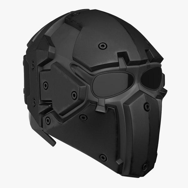 kevlar tactical mask black 3D