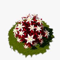3D flower cartoon model