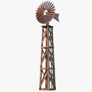 3D wind farm model