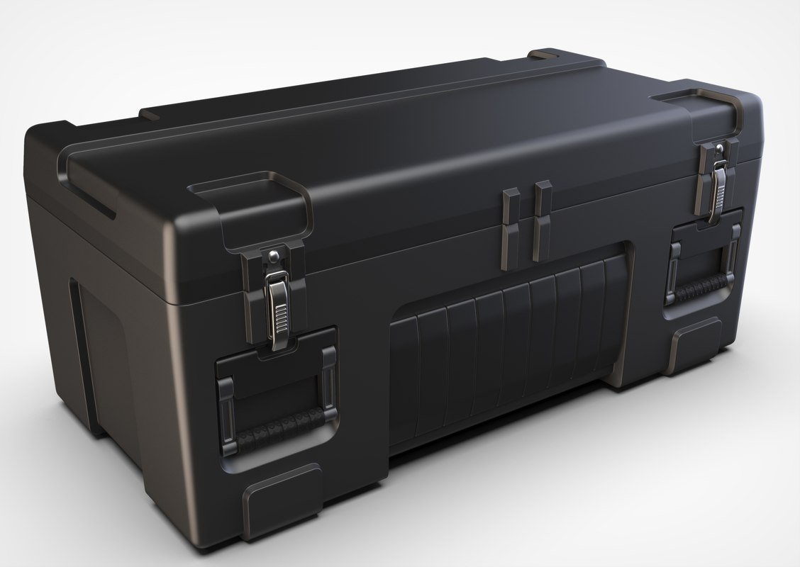 3D model military container box