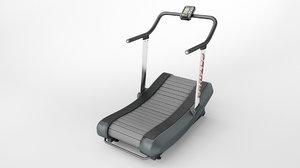3D curved treadmill air runner model