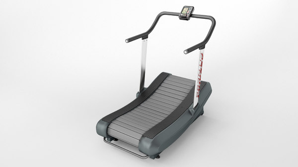 3D curved treadmill air runner model
