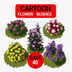 flower cartoon model