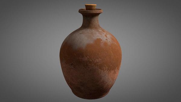 old bottle 3D model