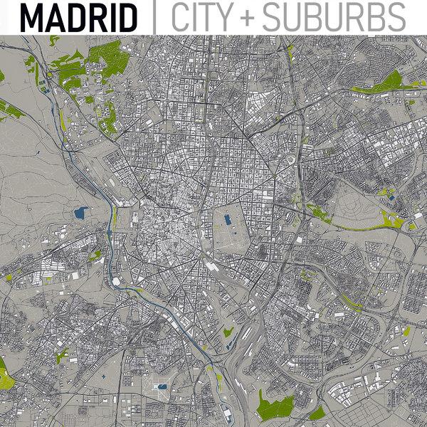3D madrid area urban