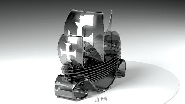 caravel crystal decoration 3D model
