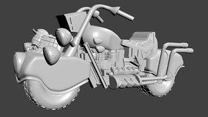 3D judge dredd lawmaster model