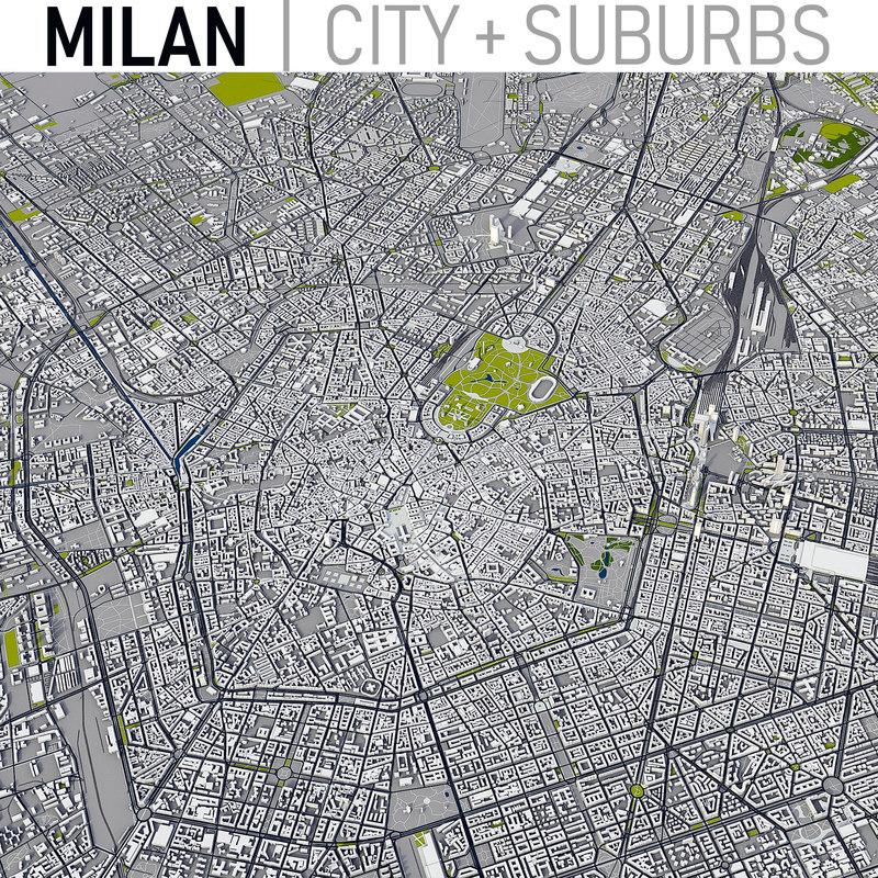 milan italy city 3D model