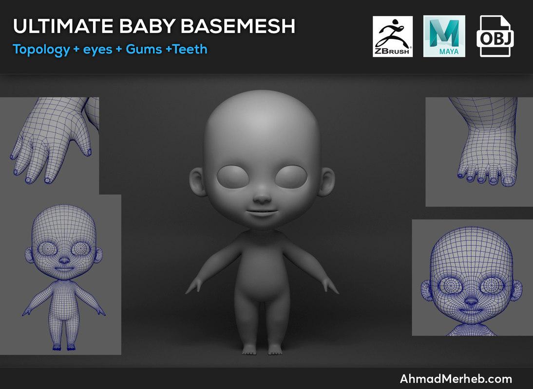 3D model ultimate baby base mesh