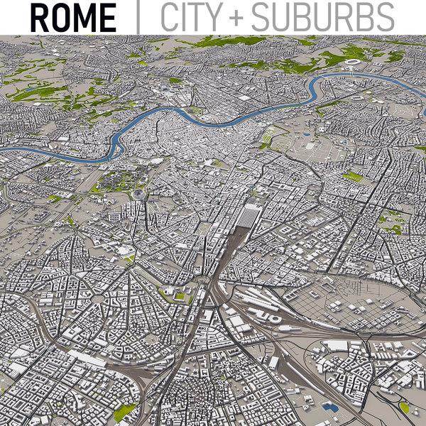 3D rome italy city model