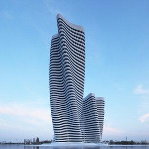 3D building office skyscraper