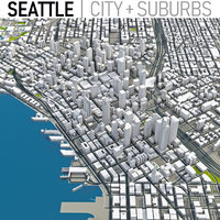 seattle city area 3D model
