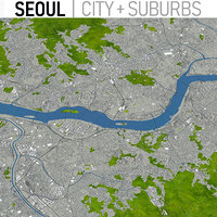 seoul korea urban 3D model