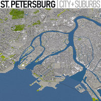 st petersburg - city 3D