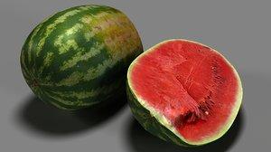 watermelon slice 3D model