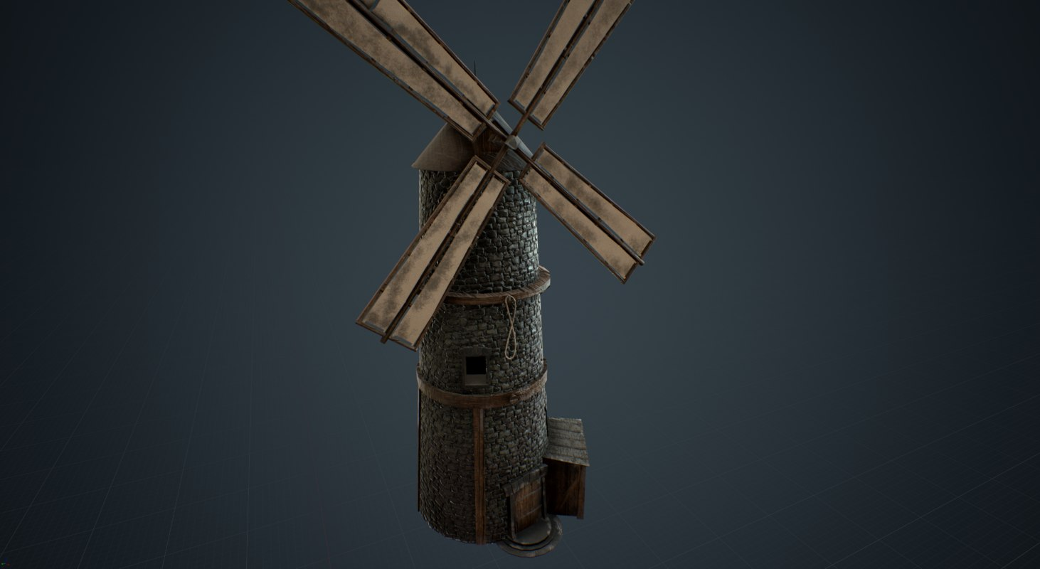 3D windmill old wind model